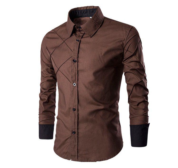 6d74eb8985a38 Camisa Cross Marrom - Masculina - MANDORAS