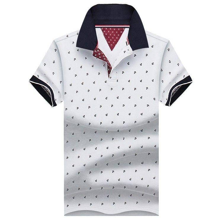 6bb00892c2 Camiseta Polo Masculina Âncora - 4 cores - MANDORAS
