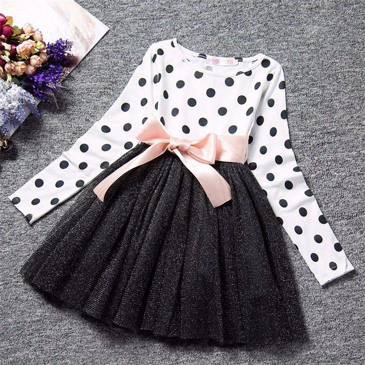 e0dc2a1f6 Vestido de Bolinhas Manga Longa - 2 cores - MANDORAS