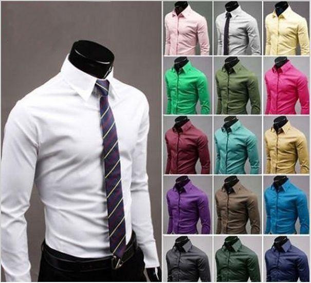 Camisa Slim Fit - 17 Cores - MANDORAS ea4a53c353a
