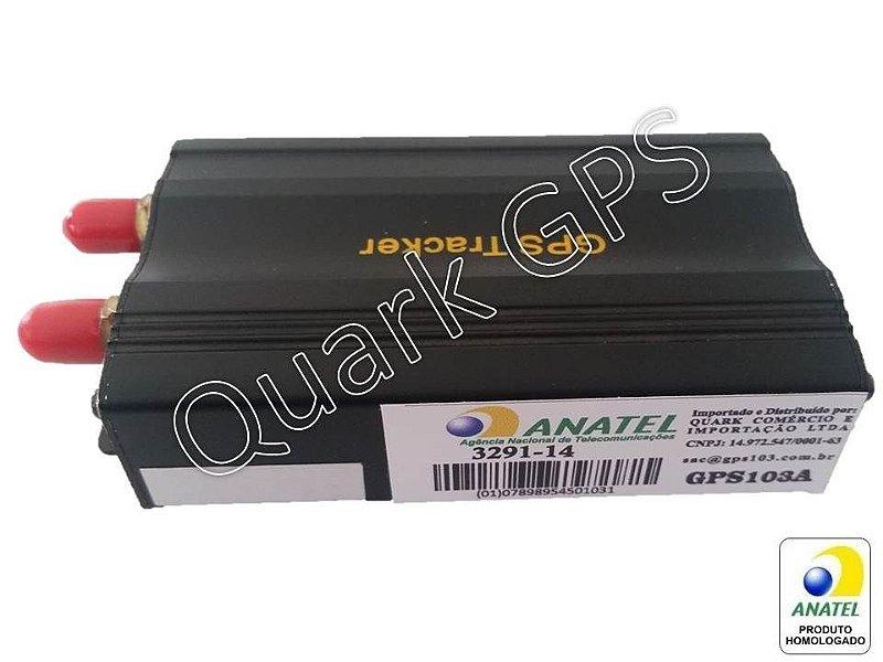 Rastreador e Bloqueador Veicular Gps103 COM CONTROLE Homologado Anatel