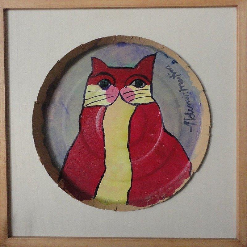 Quadro Gato Vermelho