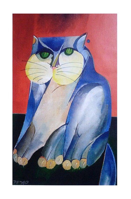 Giclée Gato Azul II sem Moldura