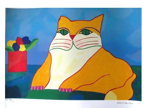 Kit Gravuras Gato Azul e Gato Amarelo