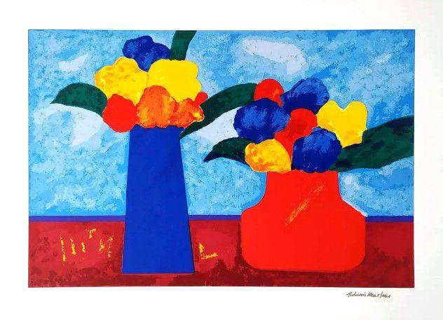 Gravura Vasos de Flores