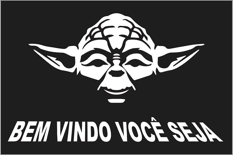 Tapete Bem Vindo Yoda