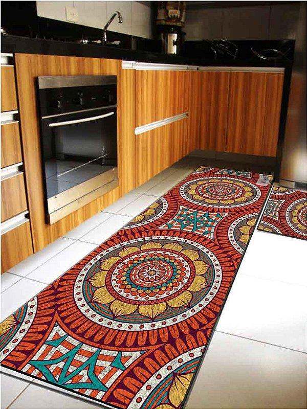 Kit cozinha Mandala cores quentes