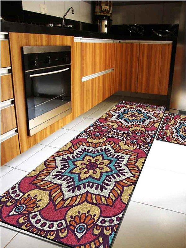 Kit Cozinha Mandala Vermelha