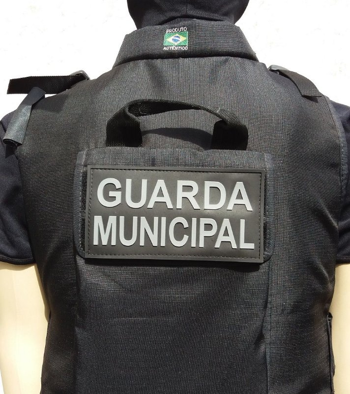 Patch Emborrachado guarda municipal para costa da capa do  colete