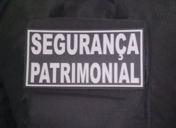 Patch Emborrachado segurança patrimonial Para Costa Capa De Colete
