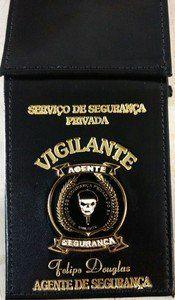 Carteira de Vigilante porta cédula e personalizada