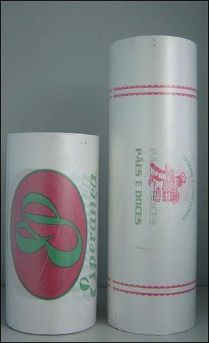 5 unidades de Bobinas de 40cm - Papel Monolúcido para Frios Impressas em Até 2 Cores