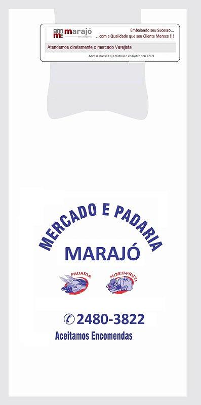 10,000 unidades - Sacolas Plásticas Convencionais  - Modelo Alça Camiseta - 50x60 - Capacidade 10 Kg - Personalizadas em até 2 cores em 1 lado