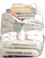 Saco plástico Cristal em PEBD 53x85 para cesta básica com 140 unidades