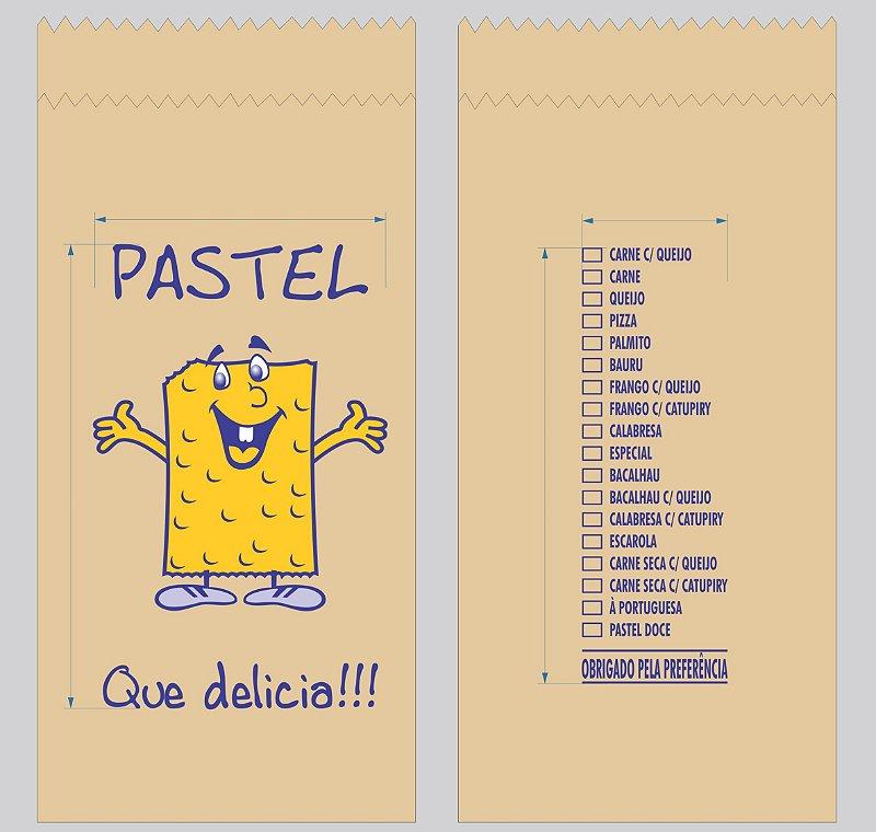 10.000 unidades de Sacos de Papel - Tamanho 1Kg - 40 g/m² Irani Pardo - Personalizados sabores de pastel conforme este anúncio