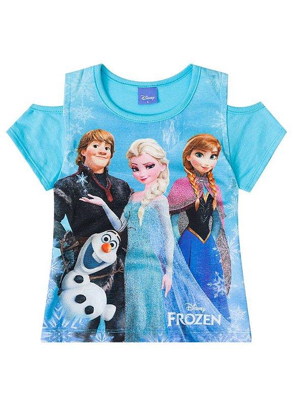 bc439af1c2dd61 Blusa Frozen Disney - Azul