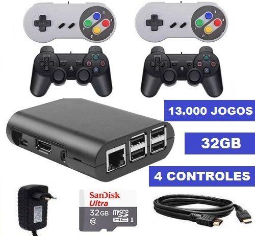 Vídeo Game 13.000 Jogos + 4 Controles + Mochila Super Mario [Grátis]