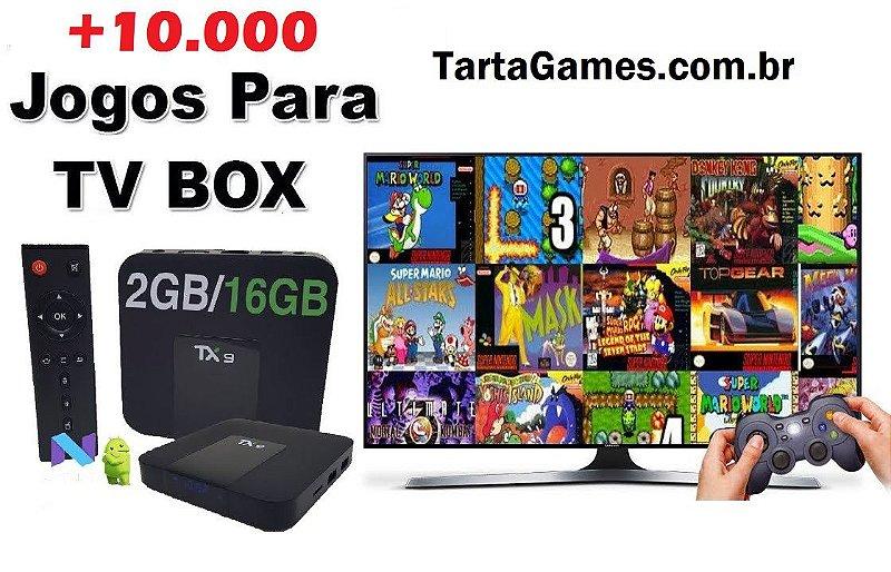 10.000 Jogos - TV Box - Cartão MicroSD com Sistema Completo Bootável