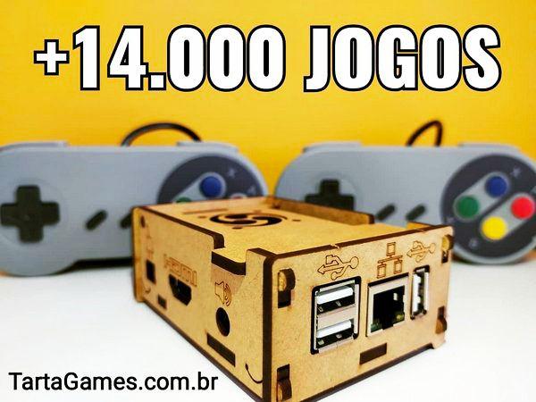 Vídeo Game 14.000 Jogos + 2 Controles + Mochila Super Mario [Grátis]
