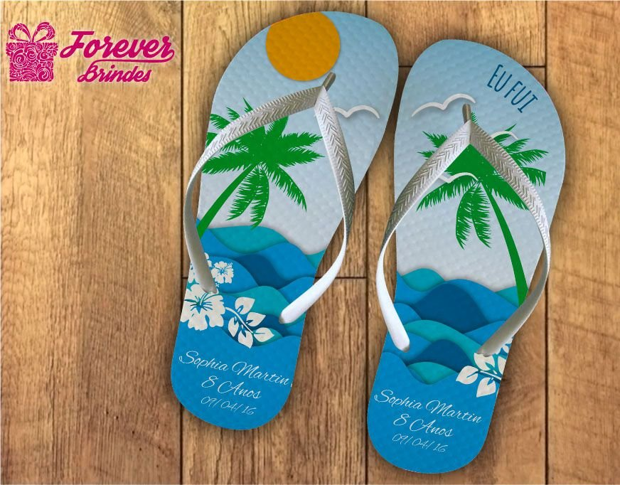 383f9dacac Chinelo Festa Havaiana Mar - FOREVER BRINDES