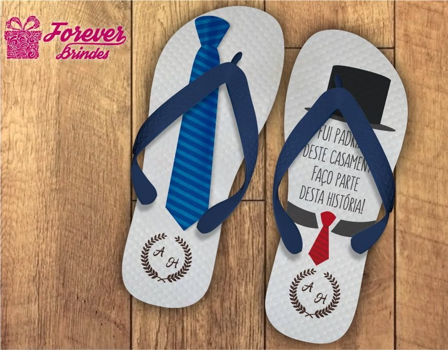 bc3d5763781cca Chinelo casamento gravata do padrinho