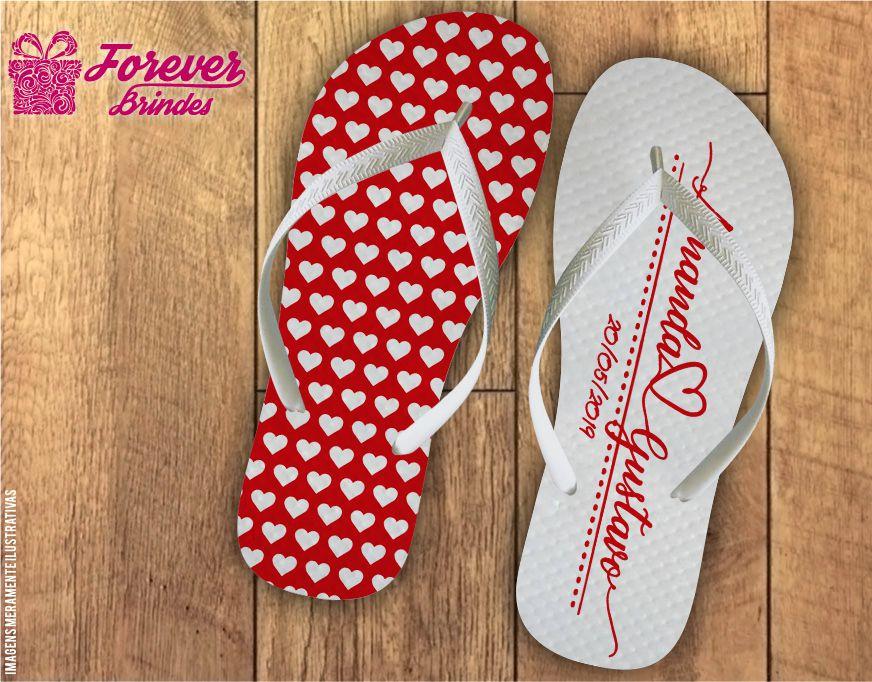 f9ab5553899502 Chinelo Personalizado Casamento Com Corações