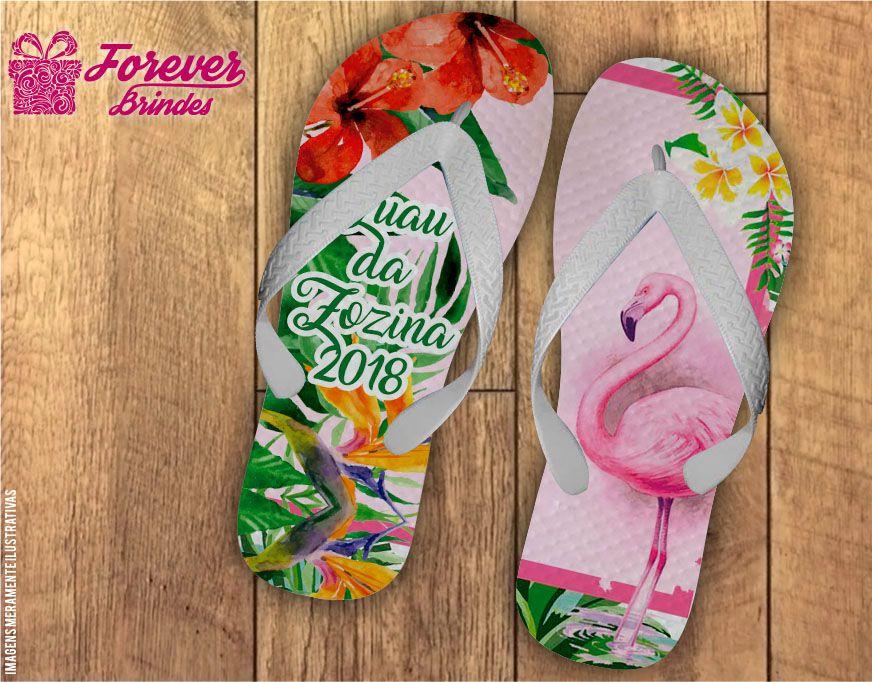 8a89c609775e2c Chinelo Personalizado Festa Tropical Flamingo