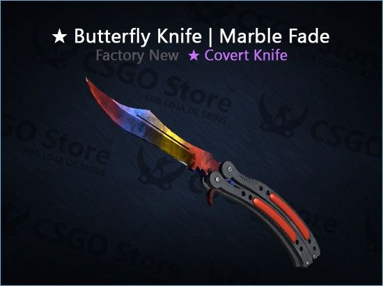 Butterfly Knife Marble Fade Fn Butterfly Skins Csgo