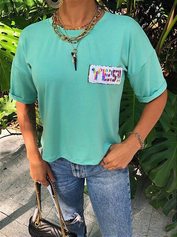 T-shirt Yes menta