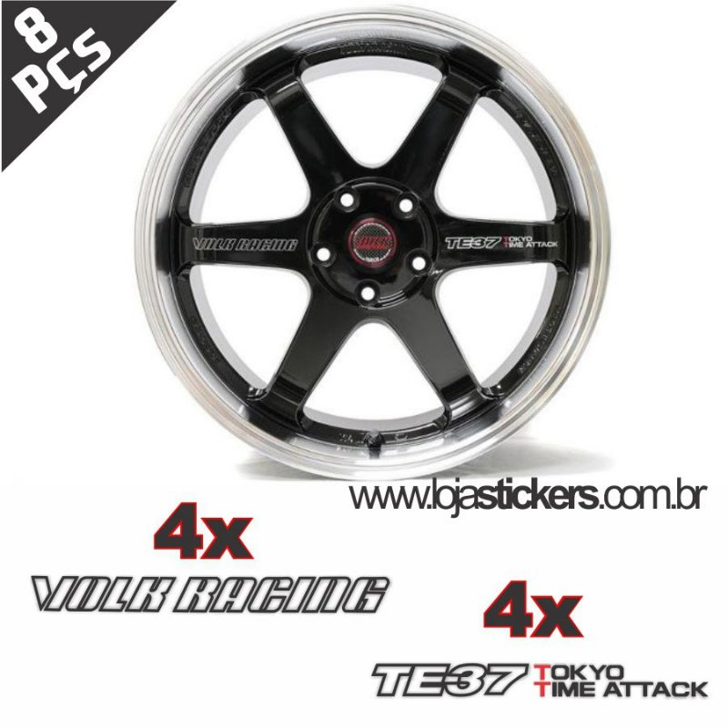 Kit Adesivo Volks Rays TE37 Time Attack