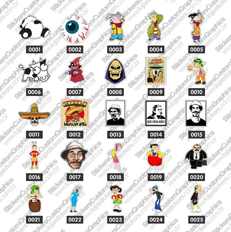 Adesivos Personagens 1