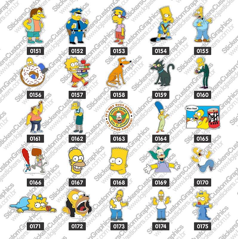 Adesivos Simpsons