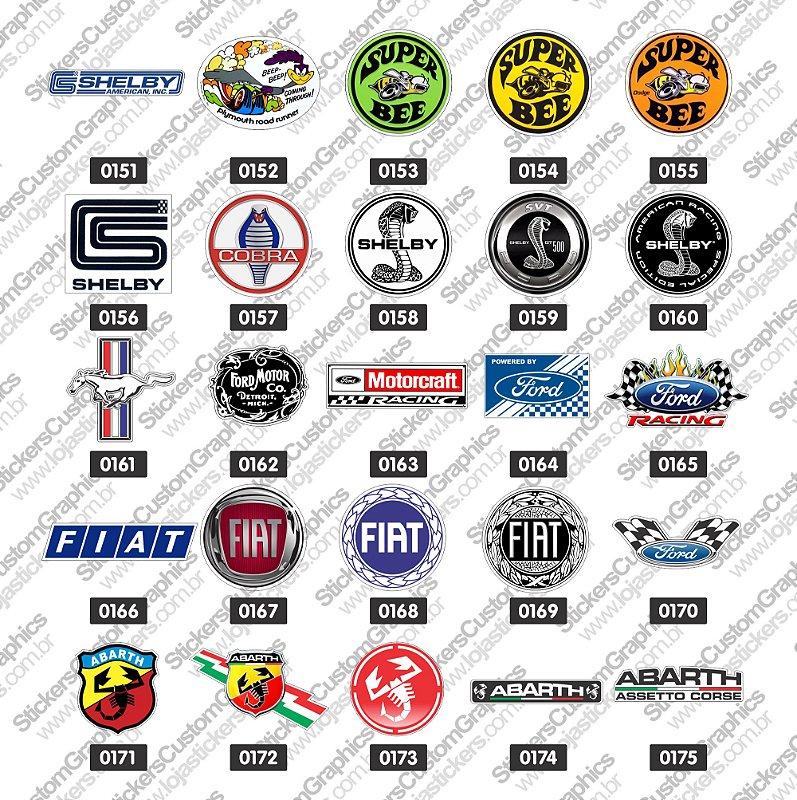 Adesivos Marcas de Carros 7