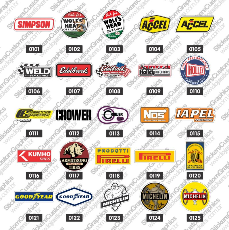 Adesivos Brands & Customs 5