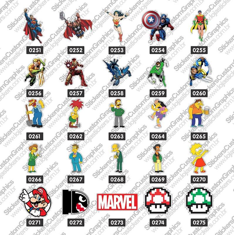 Adesivos Personagens 11