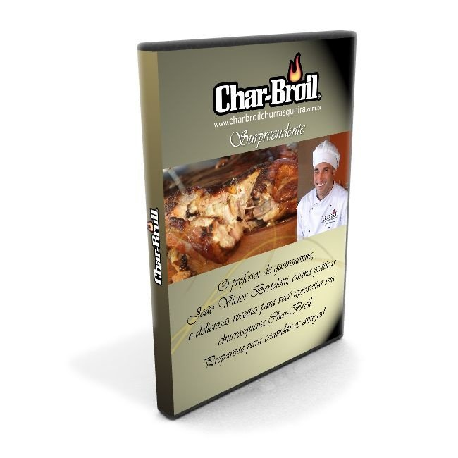 DVD receitas Char-Broil Surpreendente com João Bertolotti