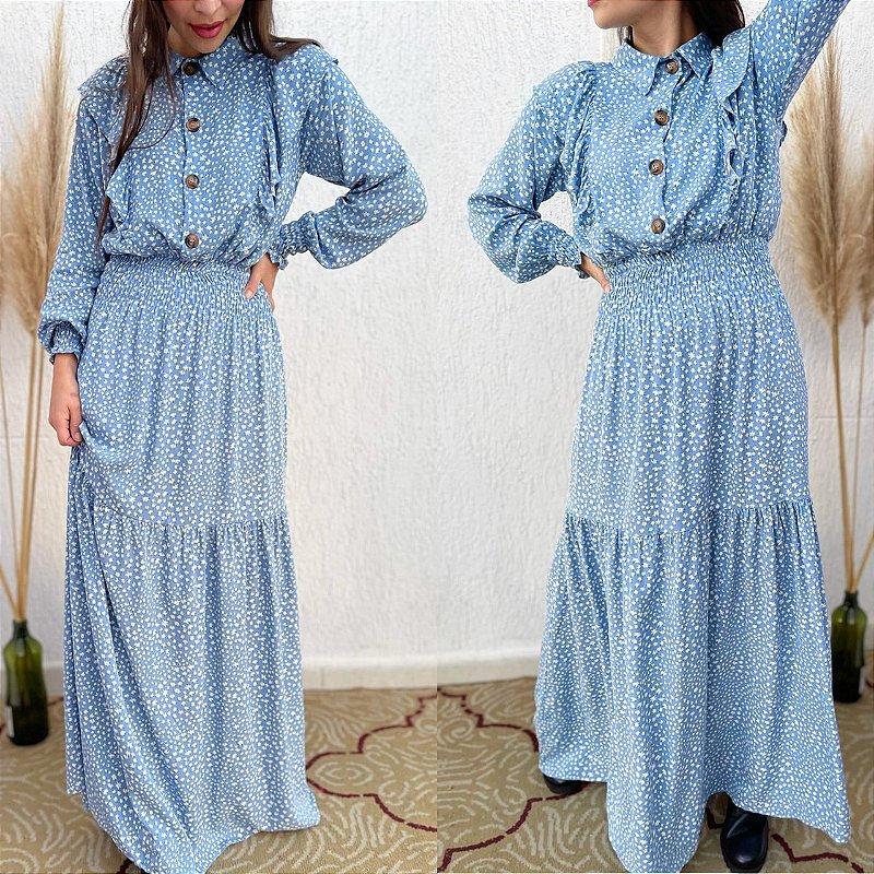 Vestido CHLOE azul