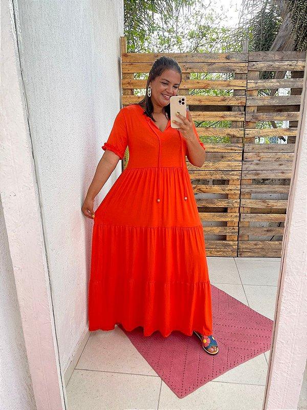 Vestido Fernanda  ( Modelagem Ampla que veste do P ao GG) Cod. 5081