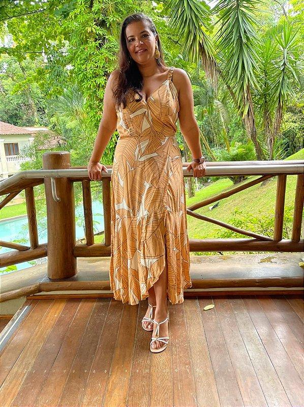 Vestido Talita com alça  modelo envelope ( Modelagem Ampla que veste do  42 ao 48 )