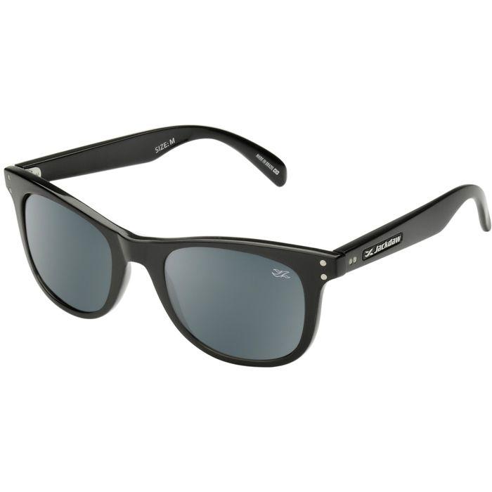 Óculos de Sol Jackdaw 11 Preto Brilho com Lentes Cinza