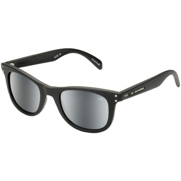 Óculos de Sol Jackdaw 16 Preto Fosco com Lentes Cinza Semi-Espelhado