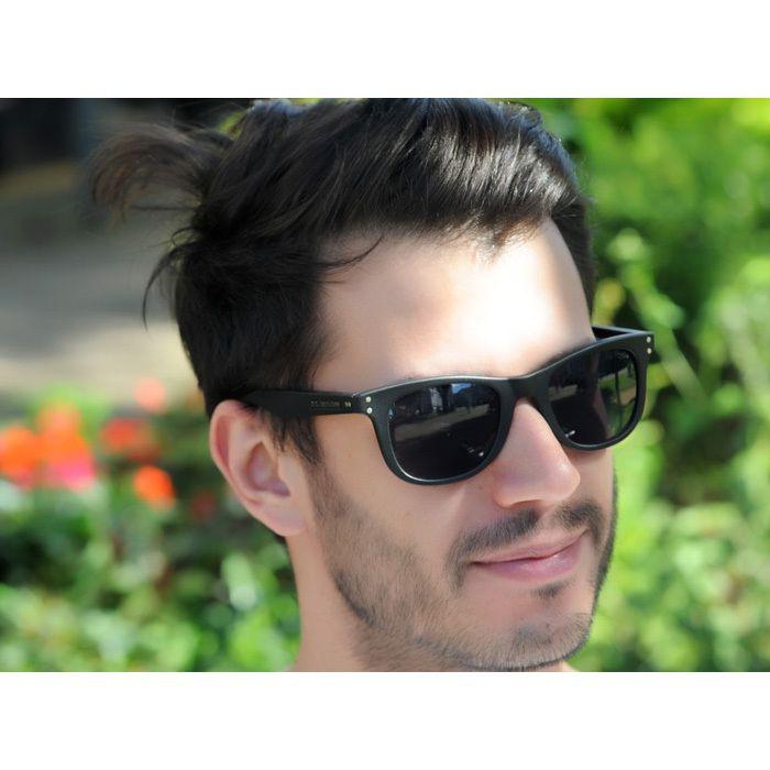Óculos de Sol Jackdaw 17 Preto Fosco com Lentes Cinza