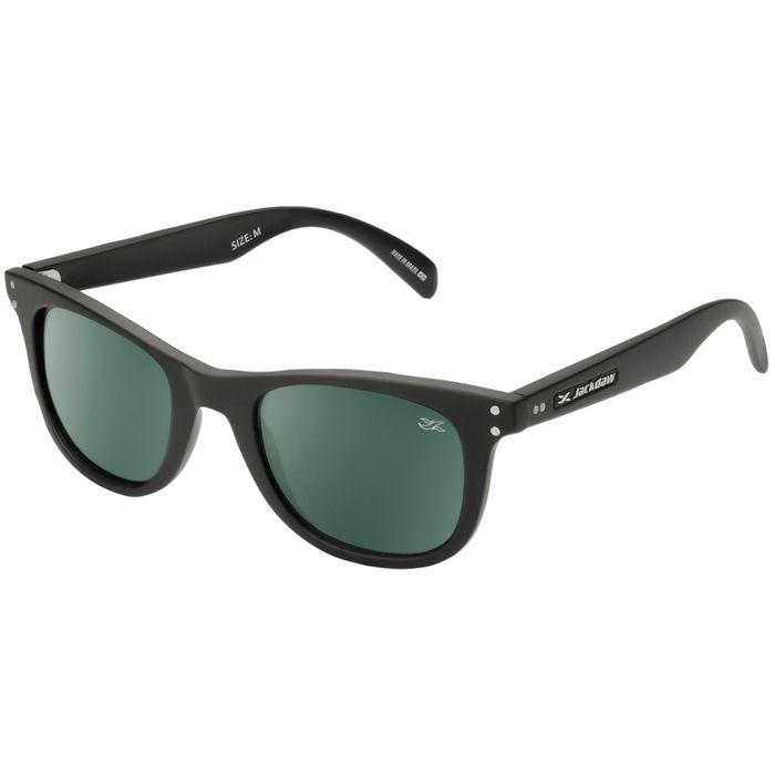 Óculos de Sol Jackdaw 20 Preto Fosco com Lentes Cinza Esverdeado