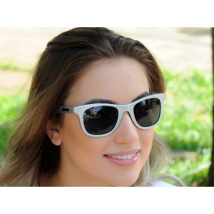 Óculos de Sol Jackdaw 22 Prata Brilho com Lentes Cinza