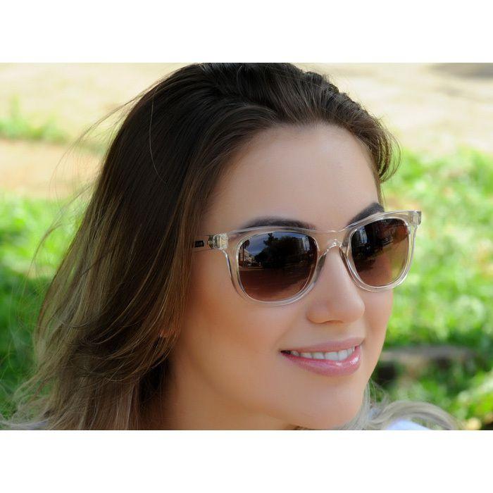 Óculos de Sol Jackdaw 27 Transparante com Lentes Marrom Degradê