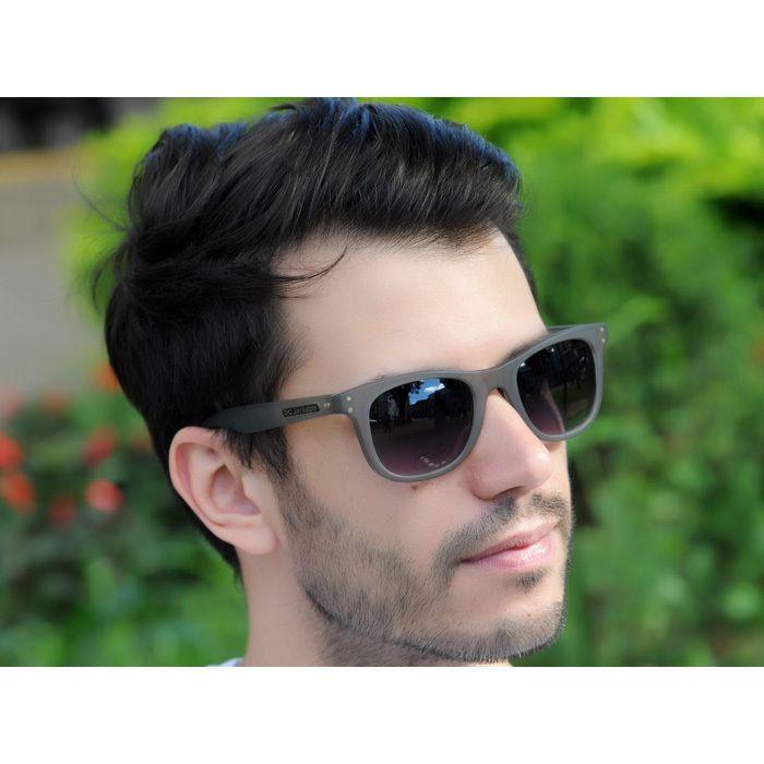 Óculos de Sol Jackdaw 34 Cinza Fosco com Lentes Cinza Degradê