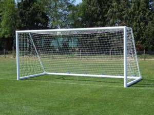 Par Rede Gol futebol campo fio 2.5mm Nylon Modelo (tradicional tipo véu) b4d37c087be3c
