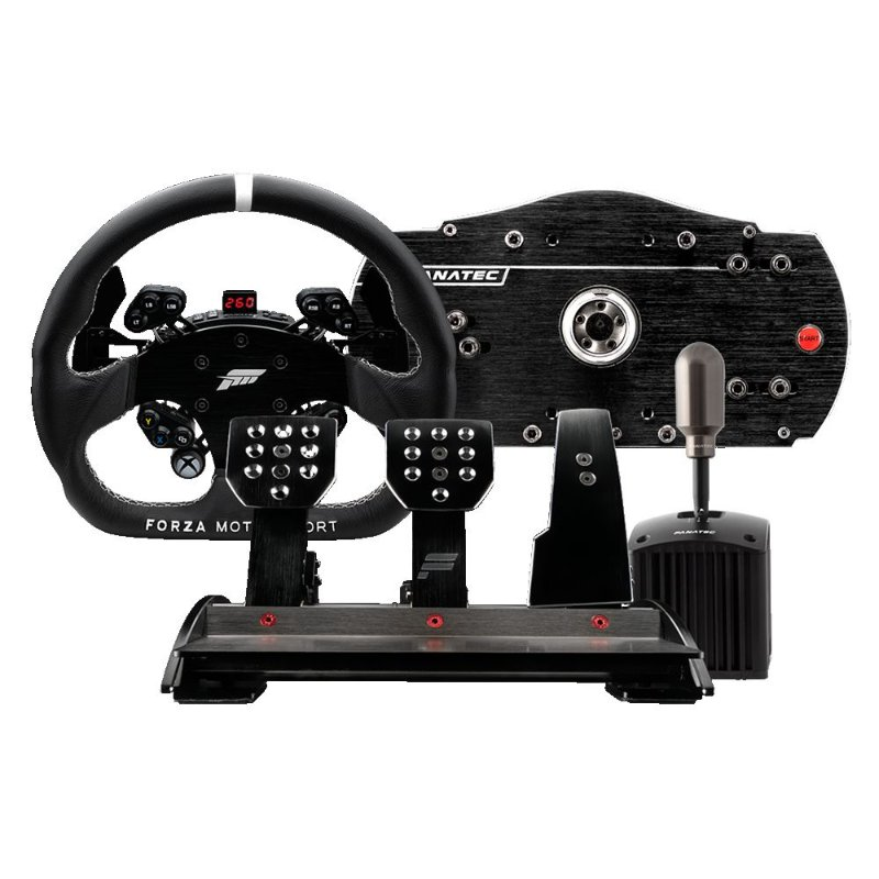 fanatec brasil volante base pedal shifter handbrake. Black Bedroom Furniture Sets. Home Design Ideas