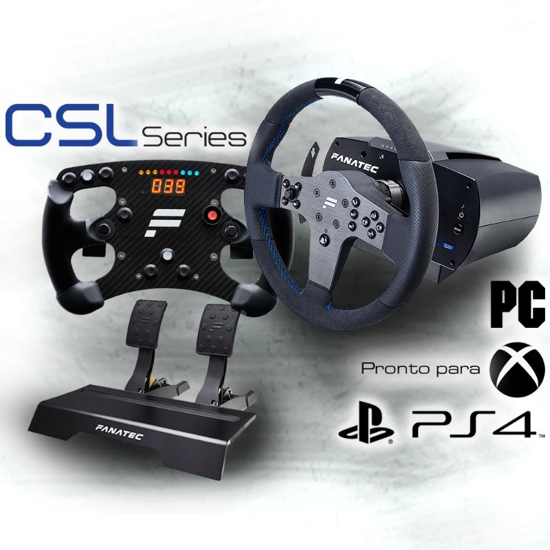 Bundle Fanatec Csl Elite Officially Licensed For Ps4 com Volante Fórmula Carbon