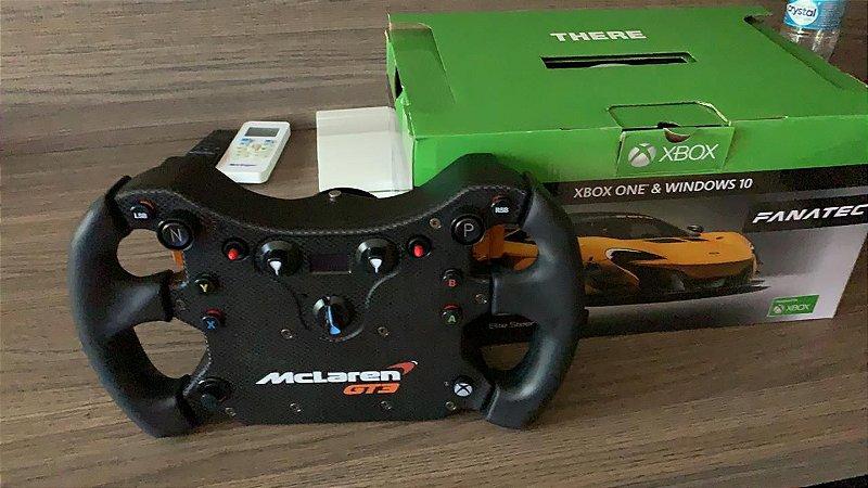 VENDIDO - Volante Fanatec CSL Elite McLaren GT3 com Quick Release - Usada